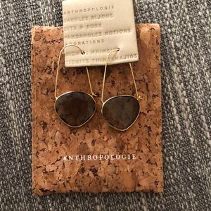 Anthropologie gold earrings
